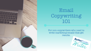 Email Copywriting 101 course title slide